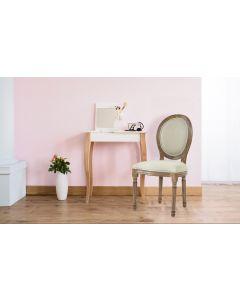 Set di 2 sedie Royale a medaglione Luigi XVI in tessuto beige