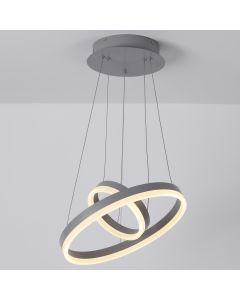 Lampadario LED Polux in metallo grigio