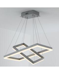Lampadario Solax LED in metallo grigio
