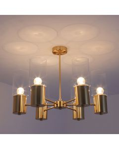 Lampadario Olympic in metallo dorato