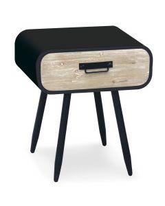 Chevet 1 tiroir Figaro en bois en biais