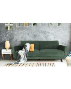 Divano trasformabile Refresha in velluto verde