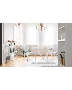 Set di 2 sedie a medaglione Sofia in similpelle bianche
