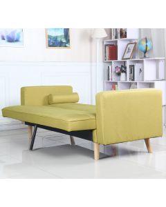 Divano scandinavo Slow in tessuto giallo