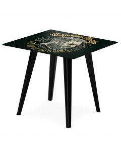 Tavolo d'appoggio magnetico quadrato da 40 cm Bipolart Metallo Nero con 3 Piani stile Fun