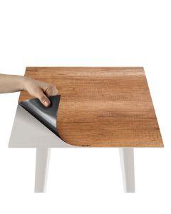 Tavolino d'appoggio magnetico quadrato da 40cm Bipolart Metallo Bianco con 3 Piani stile Natural