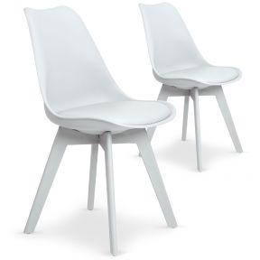 Set di 2 sedie Juno bianche