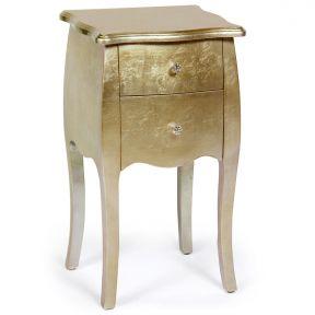Comodino Classico in legno laccato oro