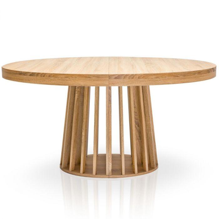 Tavolo Ovale Allungabile Eliza Rovere Chiaro